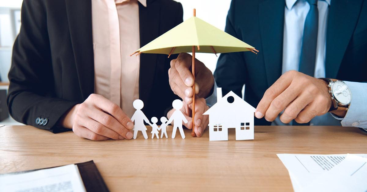 Insurance brokers ensuring family is not underinsured.